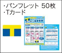 パンフレット 50枚・Tカード